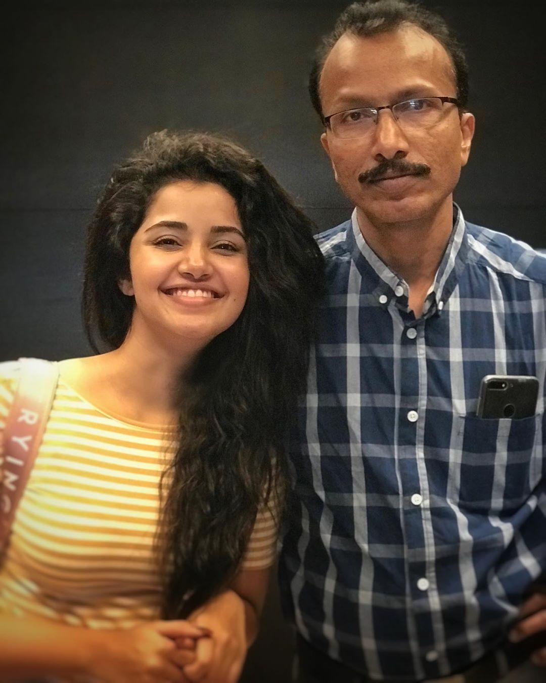 Anupama With Her Father