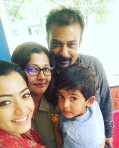 Rashmika Mandanna Family Photo
